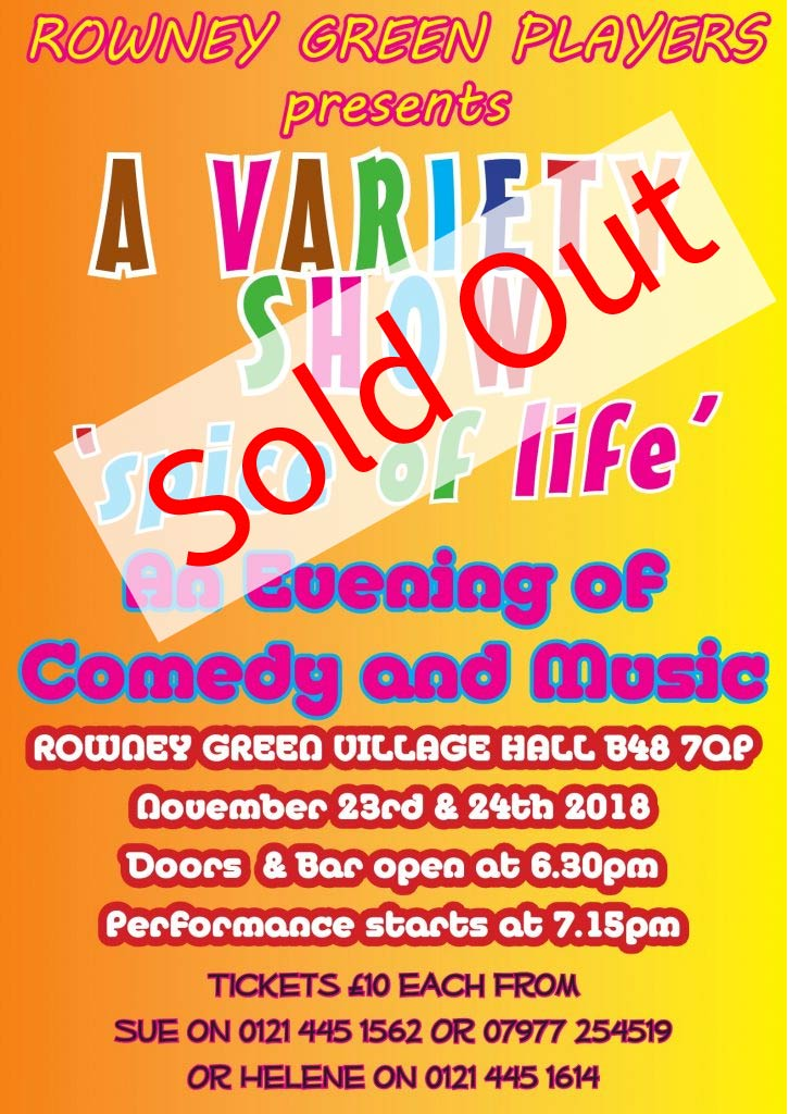 Rowney Green Players December 2018 production